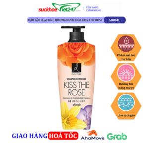 Dầu gội Elastine hương nước hoa Kiss The Rose 600ml