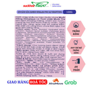 KĐR Bamboo Himalaya Pink Salt Brightening 100g