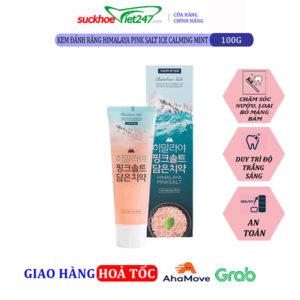 KĐR Bamboo Himalaya Pink Salt Ice Calming Mint 100g