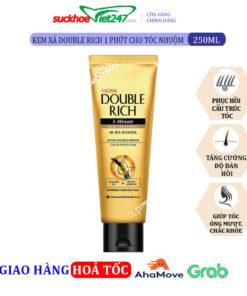 Kem xả Double Rich 1 phút cho tóc nhuộm 250ml