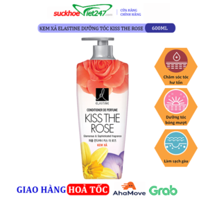 Kem xả Elastine dưỡng tóc Kiss The Rose 600ml