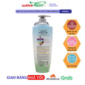 Kem xả Elastine dưỡng tóc Pure Breeze 600ml