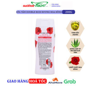 Sữa tắm Double Rich Hoa Hồng 200g