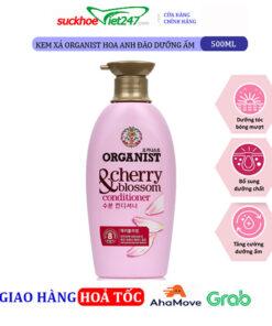 Kem xả Organist Hoa anh đào dưỡng ẩm 500ml