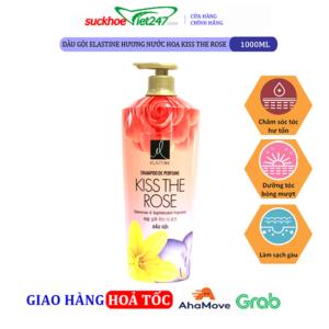 Dầu gội Elastine hương nước hoa Kiss The Rose 1000ml