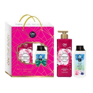 Hộp quà 1 Tắm On The Body Perfume 500g + Tặng 1 Gội Elastine 120ml