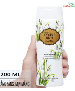 Mô Tả Sữa tắm Double Rich Hoa Xuyên Tuyết 200g