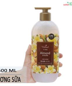 Mô tả sữa tắm On The Body Natural Almond vanilla 500g