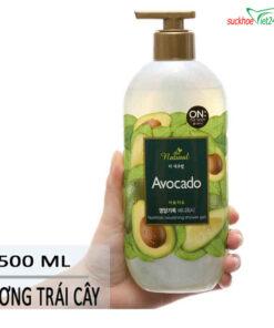 Mô Tả Sữa tắm On The Body Natural Avocado 500g