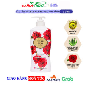 Sữa tắm Double Rich Hoa Hồng 550g