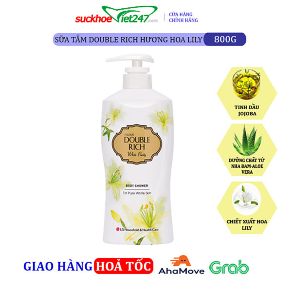 Sữa tắm Double Rich Hoa Lily 800g