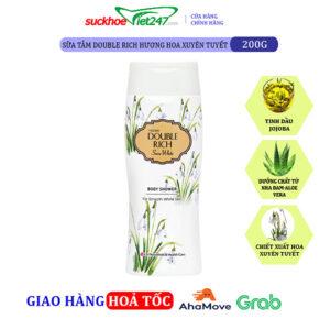 Sữa tắm Double Rich Hoa Xuyên Tuyết 200g