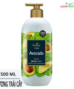 Sữa tắm On The Body Natural Avocado 500g
