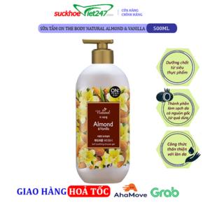 Sữa tắm On The Body Natural Almond & Vanilla 500g