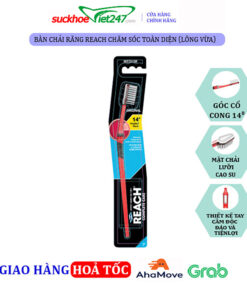 Bàn Chải Răng REACH Chăm sóc toàn diện (Lông vừa)