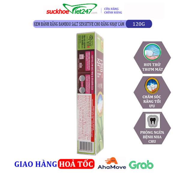Kem Đánh Răng Bamboo Salt Sensitive Cho răng nhạy cảm 120g