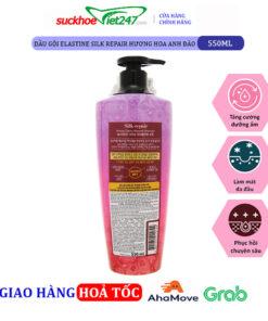 Dầu gội Elastine Silk Repair Hương Hoa Anh Đào 550ml