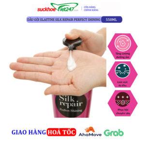 Dầu gội Elastine Silk Repair Perfect Shining 550ml