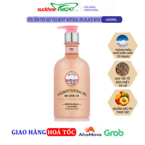 Sữa tắm OTB hạt Veilment Natural Spa Black Rose 600g