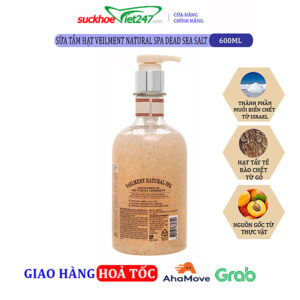 Sữa tắm On The Body hạt Veilment Natural Spa Dead Sea Salt 600g