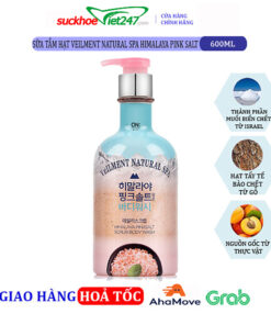Sữa tắm OTB hạt Veilment Natural Spa Himalaya Pink Salt 600g