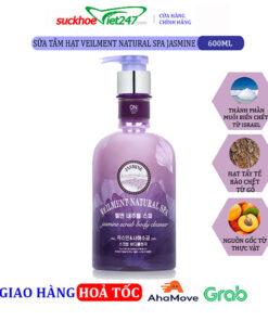 Sữa tắm On The Body hạt Veilment Natural Spa Jasmine 600g