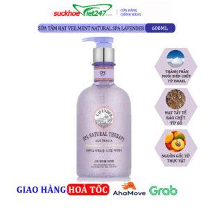 Sữa tắm On The Body hạt Veilment Natural Spa Lavender 600g