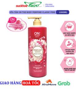 Sữa tắm on the body Perfume Classic Pink 1000ml