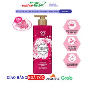 Sữa tắm On The Body Hàn Quốc Perfume Classic Pink 500g