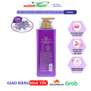 Sữa tắm On The Body Perfume Violet Double Richeam 500g