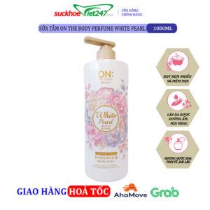 Sữa tắm On The Body Perfume White Pearl 1000g -hương nước hoa quyến rũ nhất cho phái đẹp