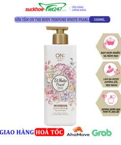 Sữa tắm On The Body Perfume White Pearl 500g – Trắng sáng tức thì với bột ngọc trai