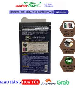 Kem nhuộm REEN Phủ Bạc Thảo Dược Thời Trang Chestnut Brown- Nâu Sẫm